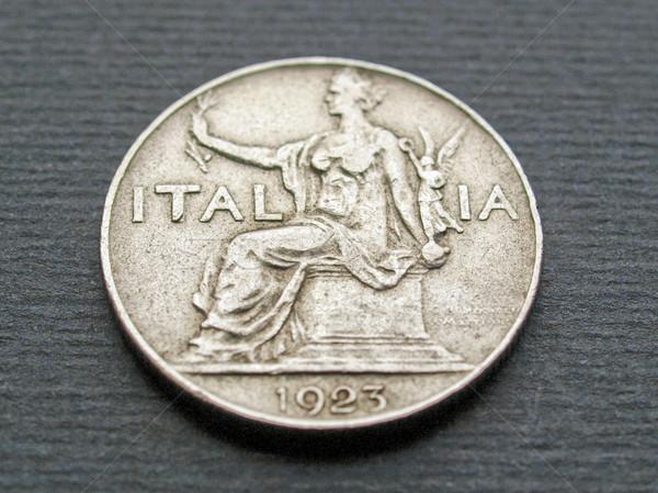 Olasz érme közelkép klasszikus pénz Stock fotó © claudiodivizia