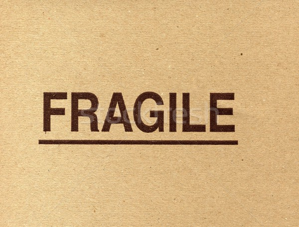Fragile écrit carton papier signe boîte Photo stock © claudiodivizia