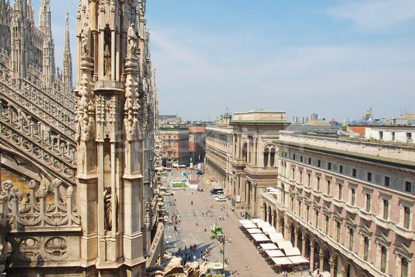 Milaan Italië stad gebouw Stockfoto © claudiodivizia