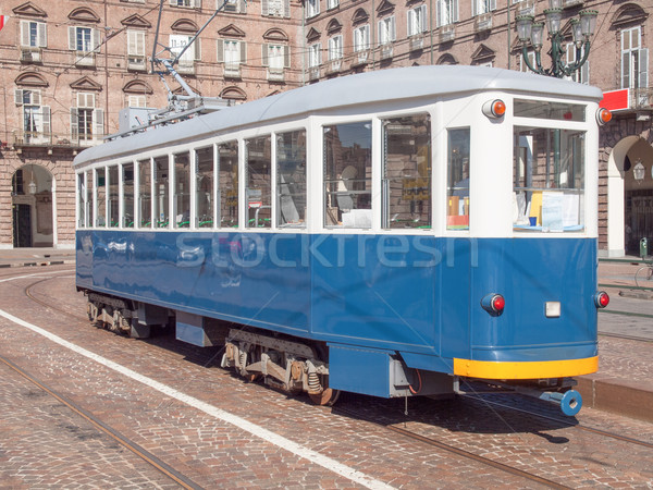 Old tram in Turin Stock photo © claudiodivizia