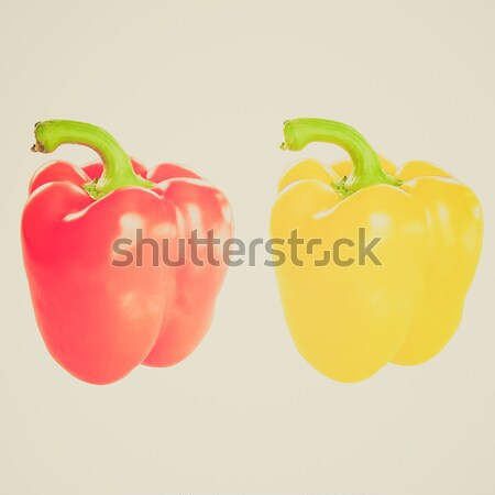 Red and yellow pepper Stock photo © claudiodivizia