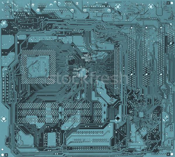 Imprimé circuit détail électronique cool Photo stock © claudiodivizia