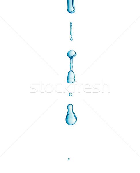 Eau gouttelette macro goutte d'eau isolé Photo stock © claudiodivizia
