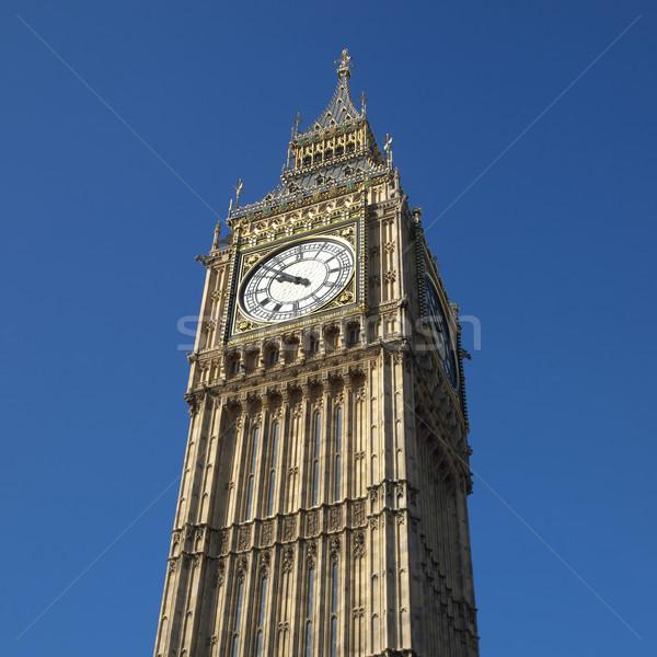Big Ben házak parlament Westminster palota London Stock fotó © claudiodivizia