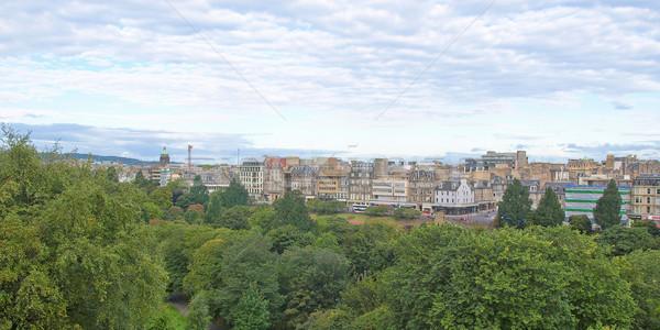Edimburgo ver cidade escócia linha do horizonte Foto stock © claudiodivizia