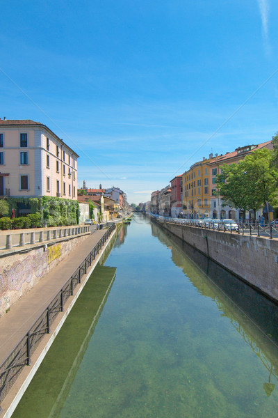 Naviglio Grande, Milan Stock photo © claudiodivizia