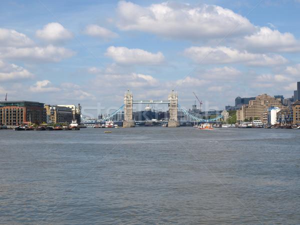 Tower Bridge Londres rio linha do horizonte europa Foto stock © claudiodivizia