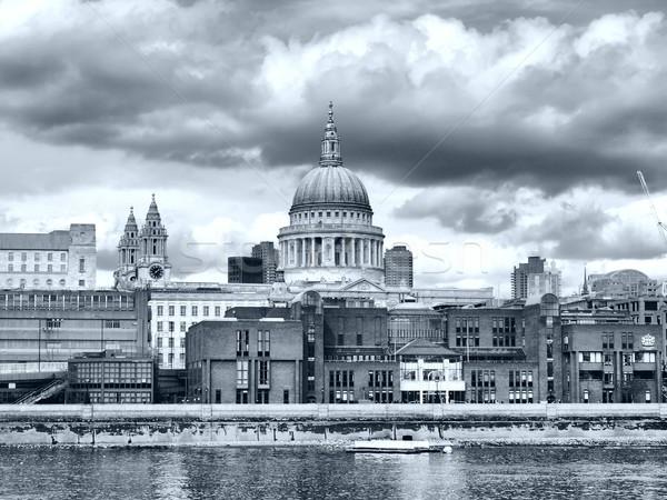 Katedrális London Egyesült Királyság magas dinamikus terjedelem Stock fotó © claudiodivizia