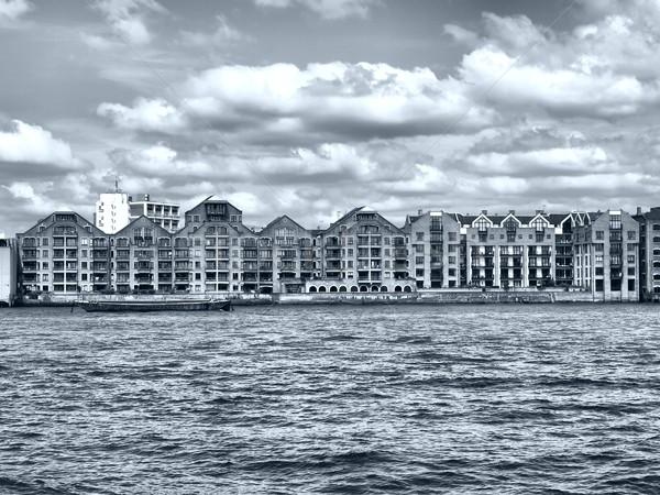 ロンドン 川 テムズ川 高い ダイナミック ストックフォト © claudiodivizia