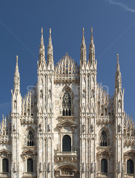 ミラノ ミラノ ゴシック 大聖堂 教会 建物 ストックフォト © claudiodivizia