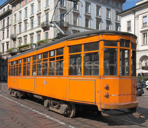 Vintage tram, Milan Stock photo © claudiodivizia