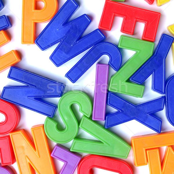 Lettere foto english alfabeto plastica giocattolo Foto d'archivio © claudiodivizia