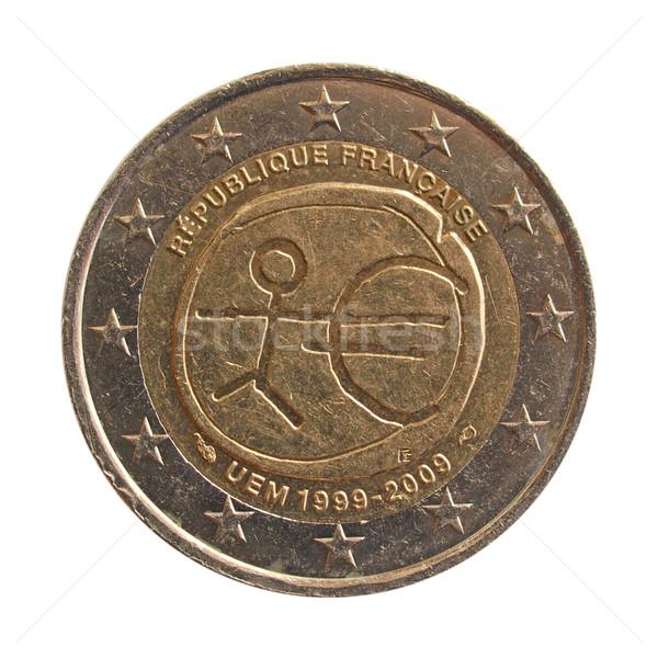 Euros pièce européenne monétaire Union isolé Photo stock © claudiodivizia