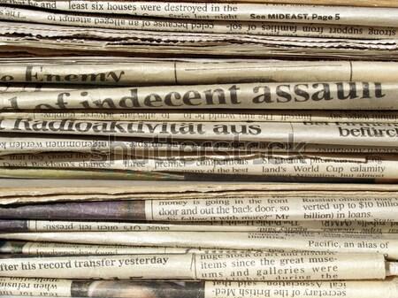 Gazeteler detay uluslararası kâğıt dünya Stok fotoğraf © claudiodivizia