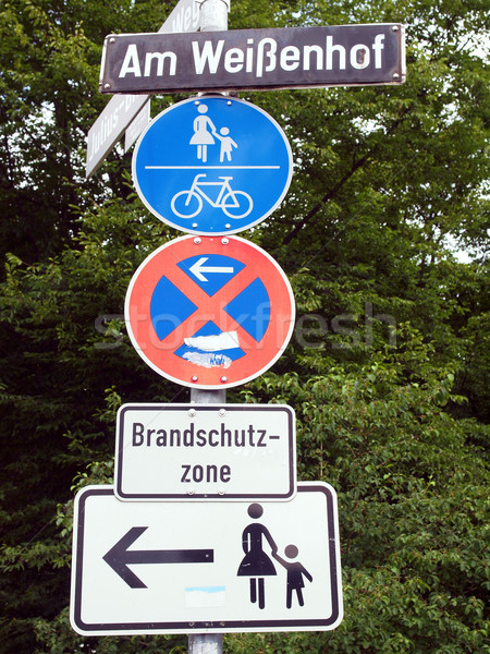 Pedestrian area sign Stock photo © claudiodivizia