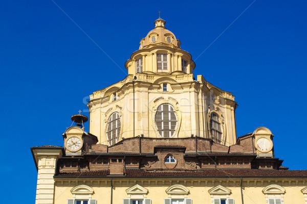 Kerk barok Italië stad retro Stockfoto © claudiodivizia
