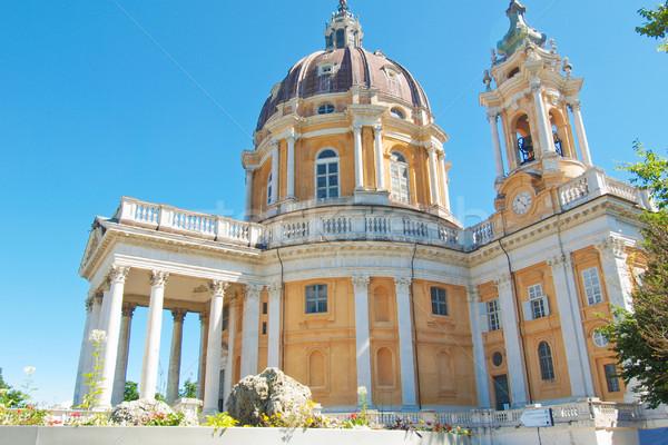 Bazilika Torino Olaszország ősi barokk apátság Stock fotó © claudiodivizia