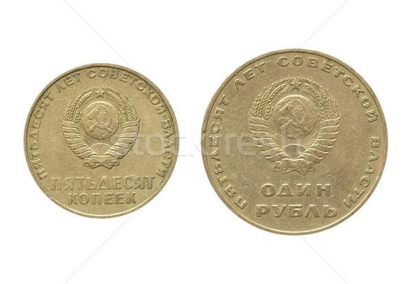 Moneta russo 50 anni rivoluzione isolato Foto d'archivio © claudiodivizia