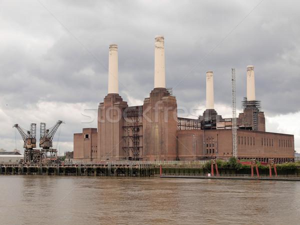 Londra İngiltere endüstriyel Retro mimari Stok fotoğraf © claudiodivizia