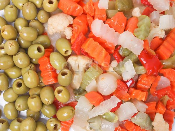 Vegyes zöldségek használt orosz saláta répák Stock fotó © claudiodivizia