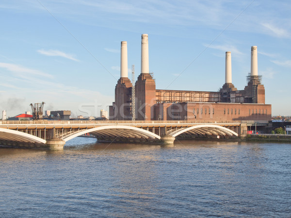 Сток-фото: Лондон · электростанция · Англии · ретро · кирпичных · архитектура