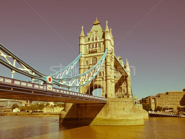 Retro looking Tower Bridge London Stock photo © claudiodivizia
