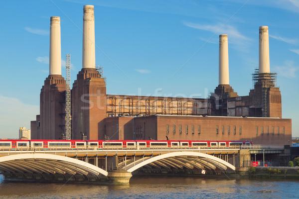 Сток-фото: Лондон · электростанция · Англии · промышленных · ретро · архитектура
