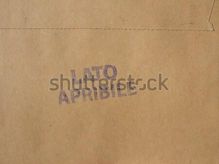 Photo stock: Carton · brun · utile · papier