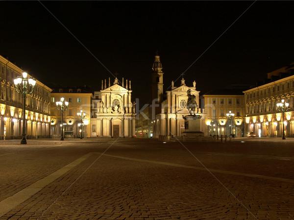 Piazza San Carlo, Turin Stock photo © claudiodivizia