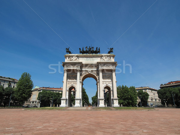 Iram Milánó ív béke Olaszország klasszikus Stock fotó © claudiodivizia