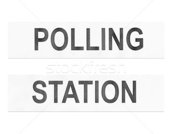 Stazione luogo elezioni isolato bianco party Foto d'archivio © claudiodivizia