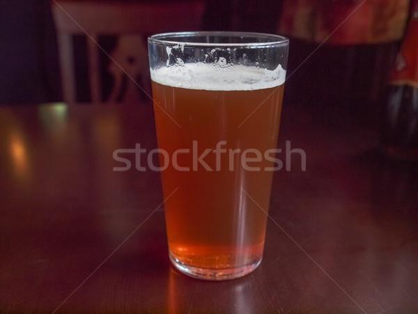 Keserű sör pint angol üveg alkohol Stock fotó © claudiodivizia