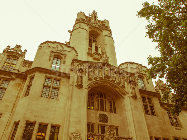 Retro looking Supreme Court London Stock photo © claudiodivizia