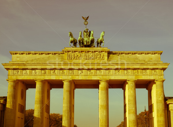 Retro looking Brandenburger Tor, Berlin Stock photo © claudiodivizia