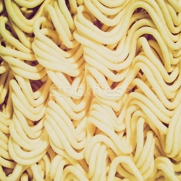 Retro look Noodles picture Stock photo © claudiodivizia