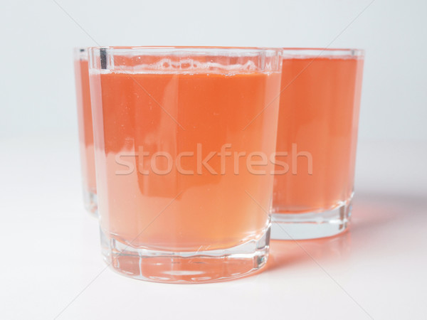 Jugo de naranja desayuno continental mesa frutas vidrio bar Foto stock © claudiodivizia