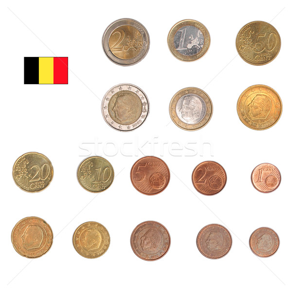 Foto stock: Euro · moeda · Bélgica · moedas · tanto · internacional