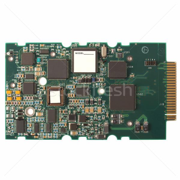 Imprimé circuit détail électronique isolé Photo stock © claudiodivizia