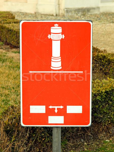 Fire hydrant sign Stock photo © claudiodivizia