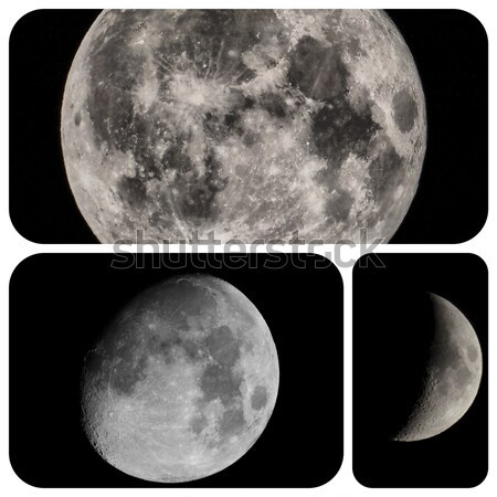 Pleine lune nuit sombre satellite télescope plein Photo stock © claudiodivizia