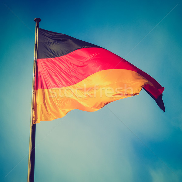 Retro look German flag Stock photo © claudiodivizia