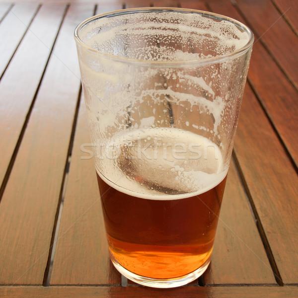 Sör ital nagy üveg pint alkoholos ital Stock fotó © claudiodivizia