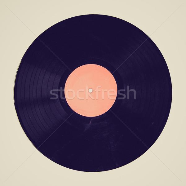 Retro look Vinyl record Stock photo © claudiodivizia