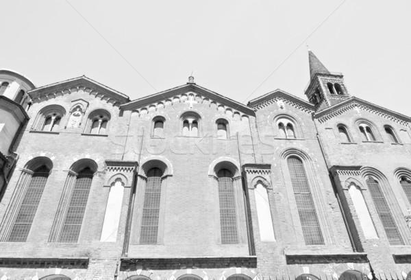教会 ミラノ バシリカ イタリア レトロな 白 ストックフォト © claudiodivizia