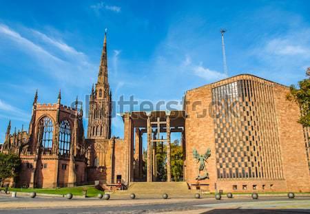 Katedrális templom Anglia divat gótikus vallás Stock fotó © claudiodivizia