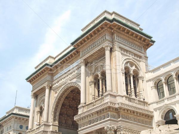 Stockfoto: Milaan · Italië · vintage · Europa · oude · stad
