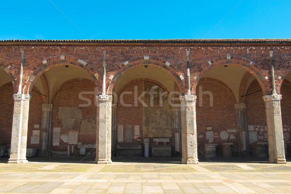 Kerk milaan basiliek Italië Europa godsdienst Stockfoto © claudiodivizia