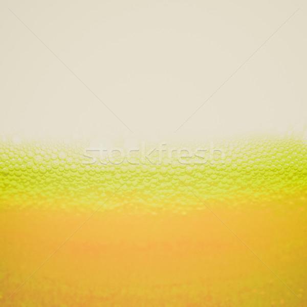 Foto stock: Retro · veja · cerveja · vintage · olhando · espuma