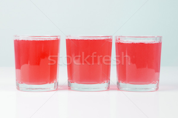 Rosa pomelo jugo gafas desayuno continental mesa Foto stock © claudiodivizia