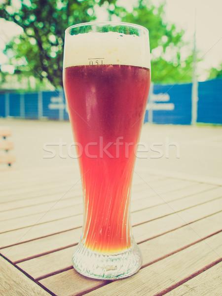 Retro néz sör klasszikus néz üveg Stock fotó © claudiodivizia